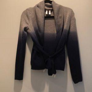 BCBGMAXAZRIA gray and navy sweater